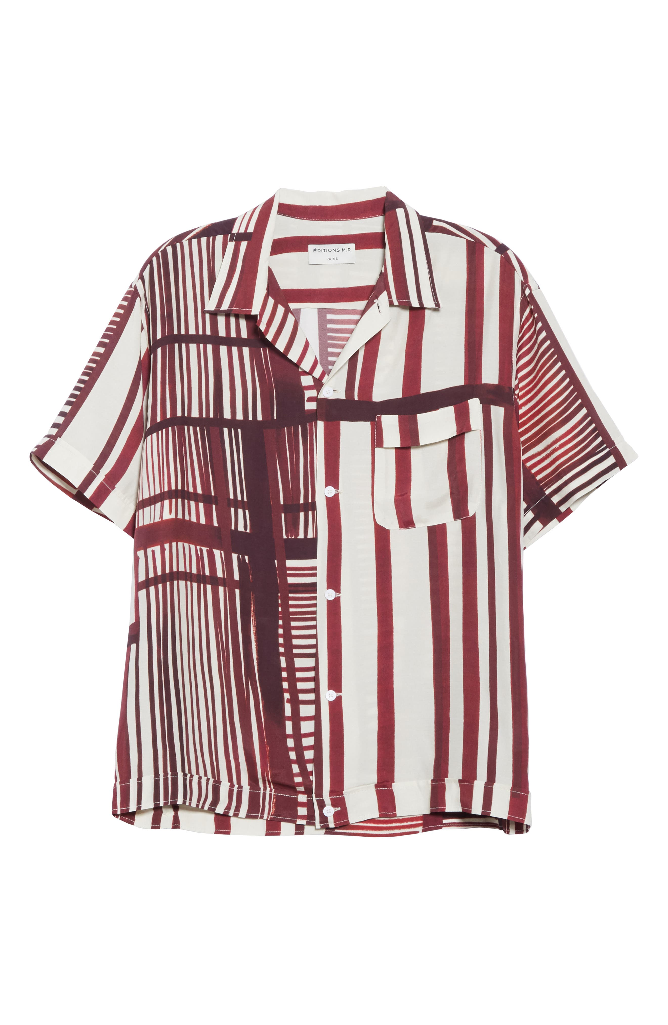 ,                             Willy Stripe Camp Shirt,                             Alternate thumbnail 5, color,                             930