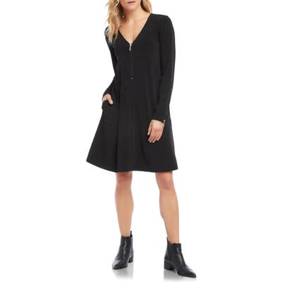 Karen Kane V-Neck A-Line Dress, Black