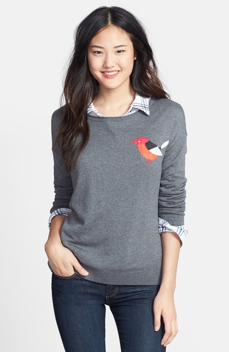 CASLON<SUP>®</SUP> Patterned Long Sleeve Sweater, Main, color, 030