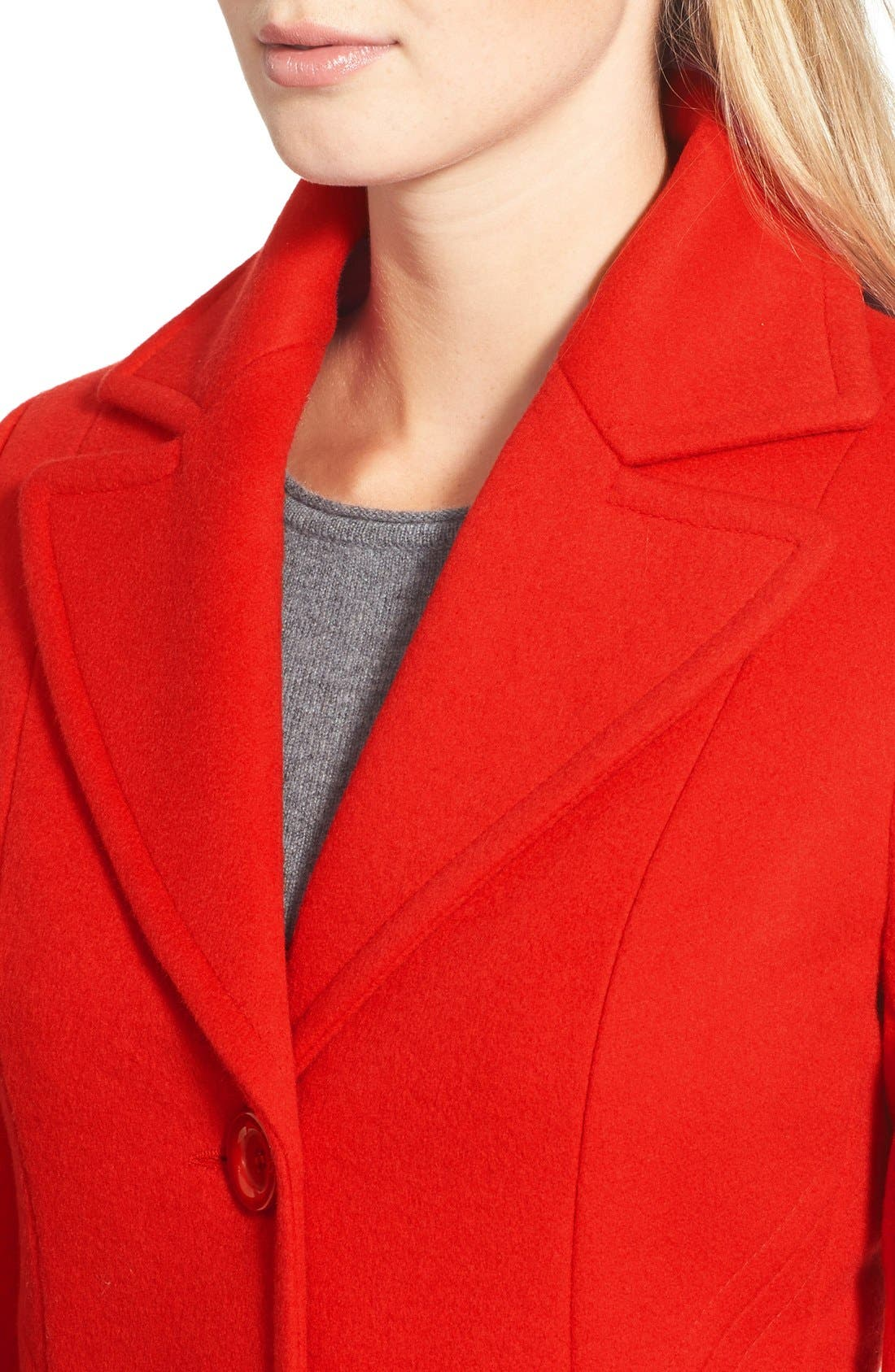 ,                             Single Breasted Wool Blend Coat,                             Alternate thumbnail 12, color,                             610