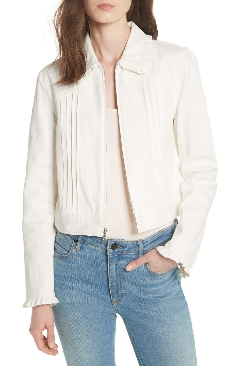 REBECCA TAYLOR Twill Jacket, Main, color, 115