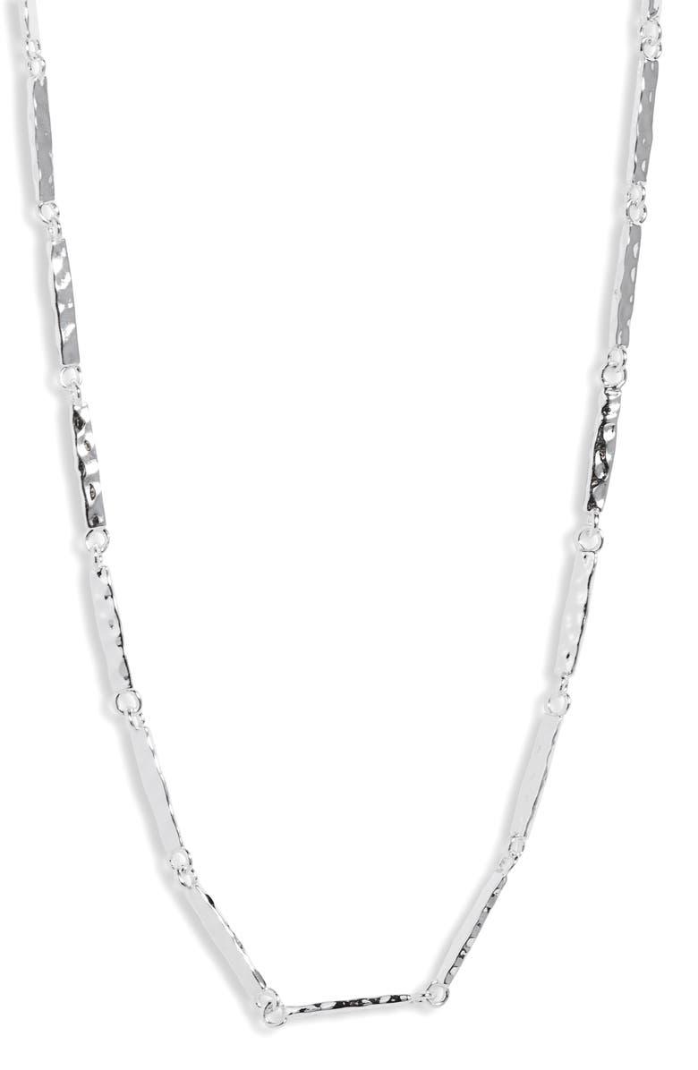 GORJANA Balboa Bar Link Necklace, Main, color, SILVER