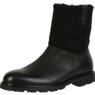 Ross & Snow Soren Boot With Genuine Shearling, Black