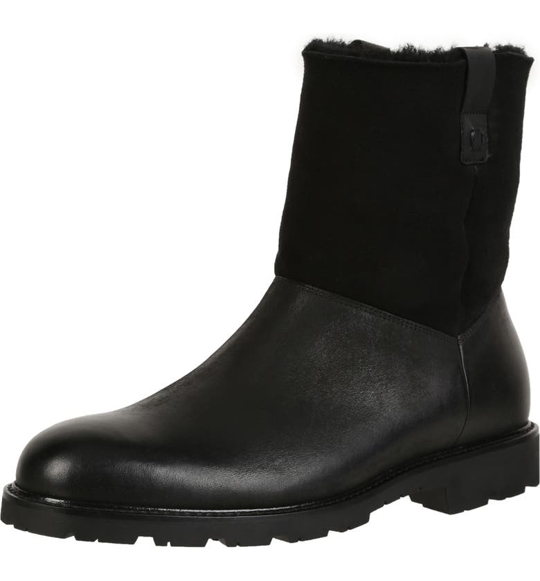 ROSS & SNOW Soren Boot with Genuine Shearling, Main, color, BLACK