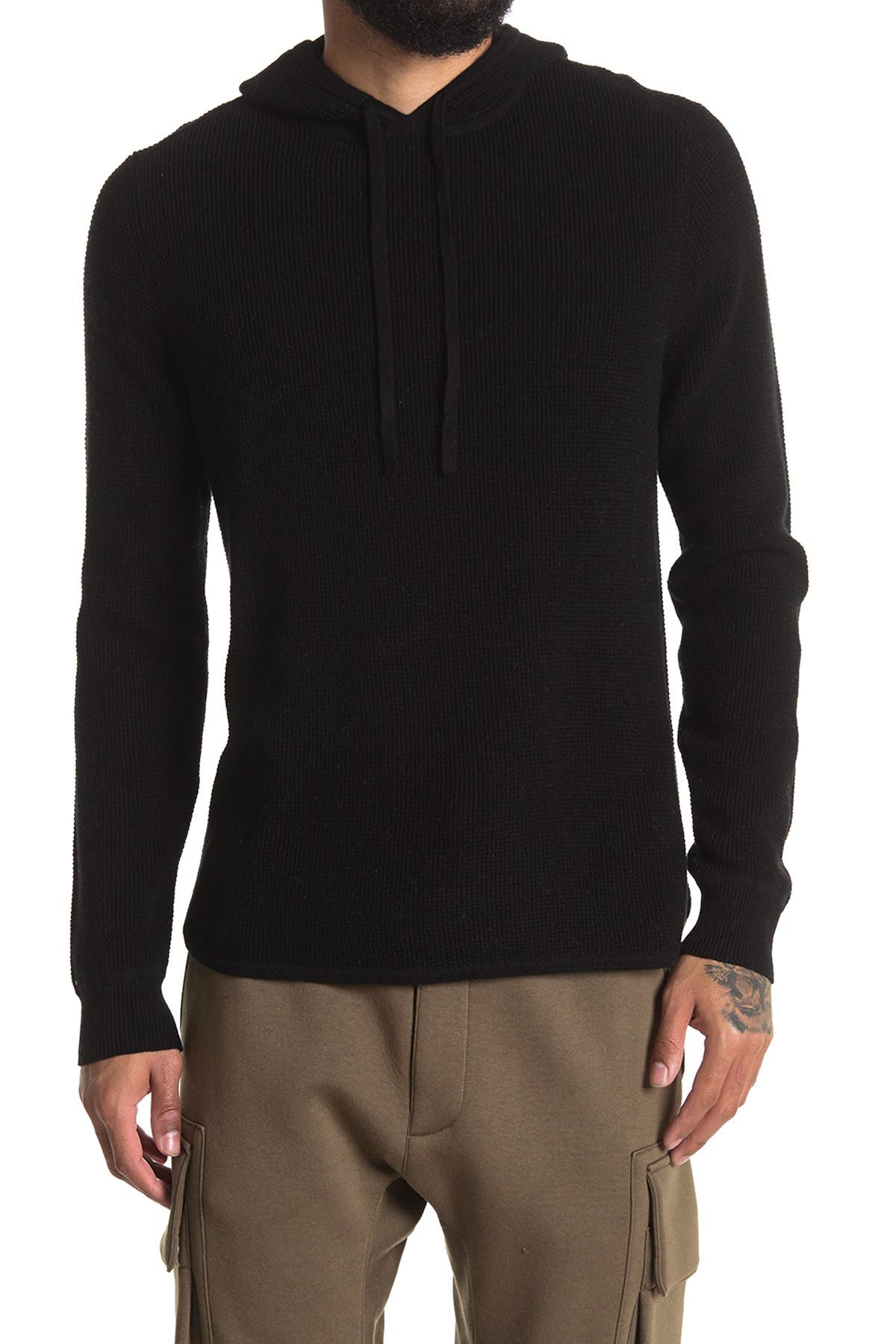 Image of AMICALE Cotton Cashmere Blend Thermal Hoodie