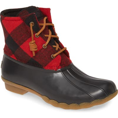 Sperry Saltwater Rain Boot, Red