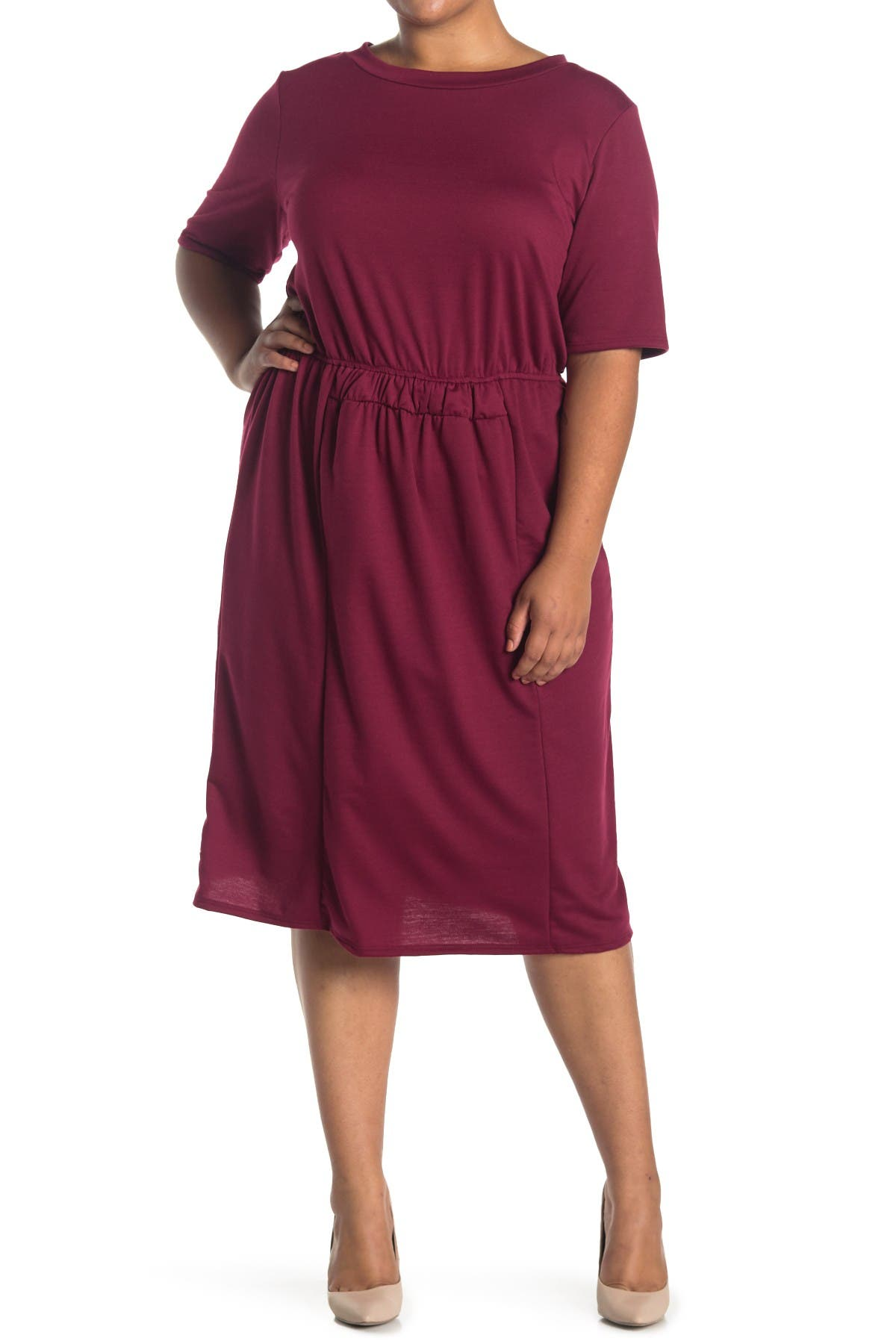 Forgotten Grace Short Sleeve Smock Waist Dress at Nordstrom Rack