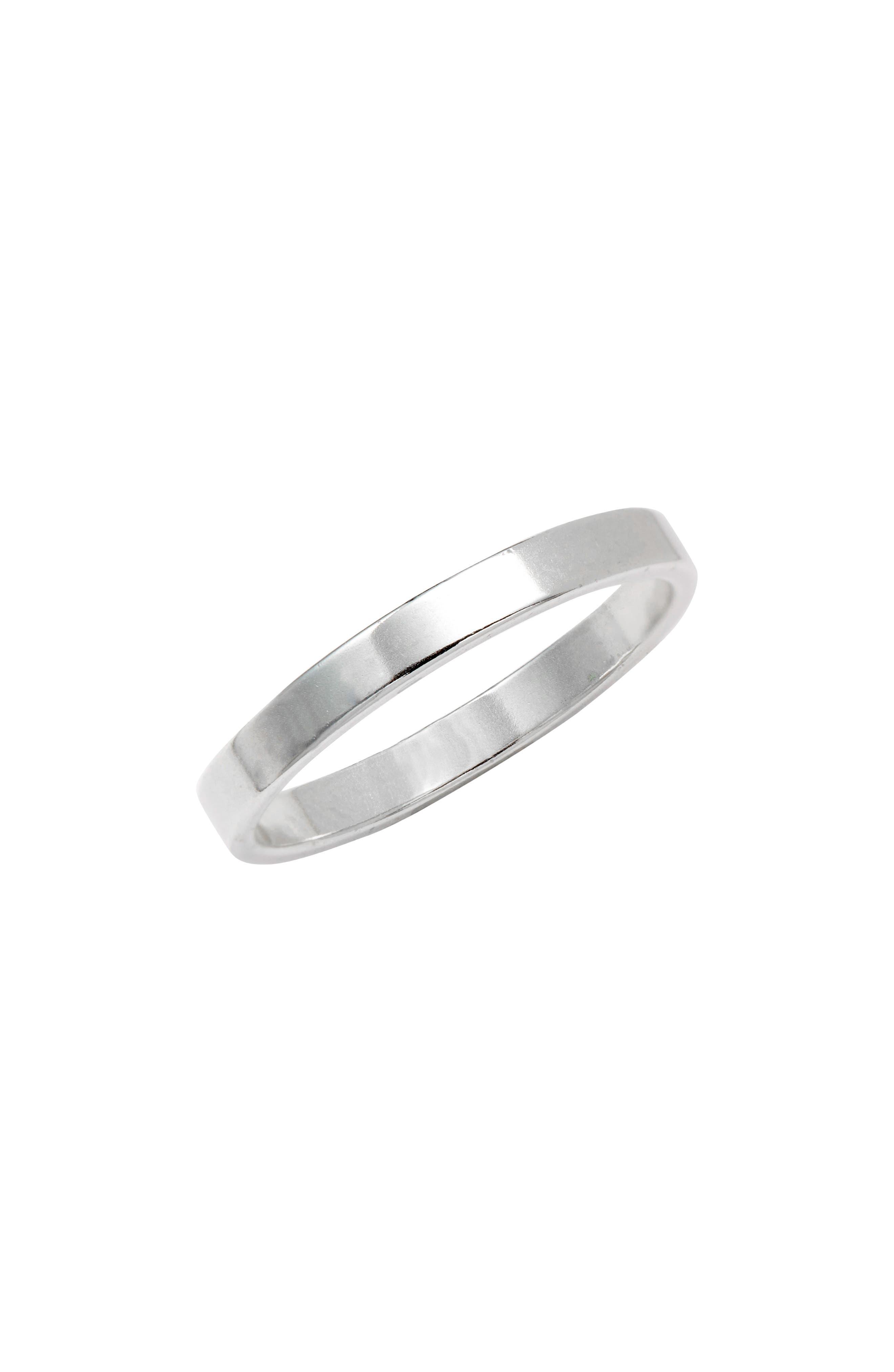 Minimal Sterling Silver Band Ring