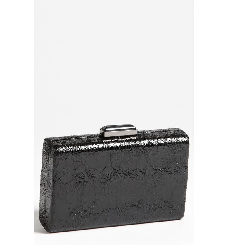 EXPRESSIONS NYC 'Metallic Wave' Box Clutch, Main, color, 001