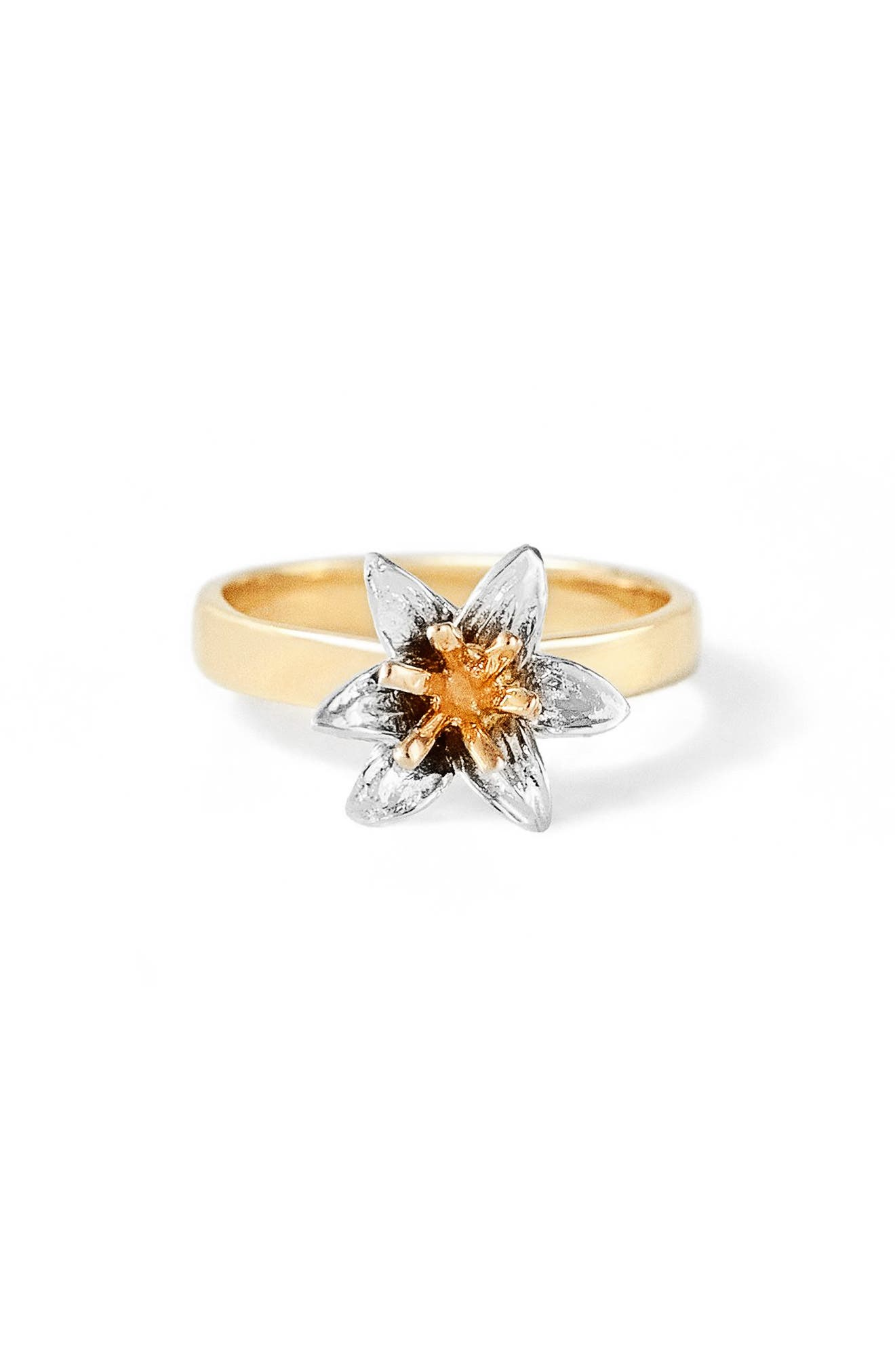 Flora Lily 14K Gold Ring