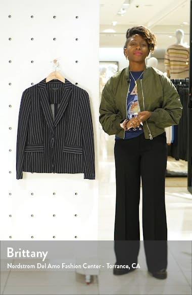 Lexington Pinstripe Cotton Blazer, sales video thumbnail