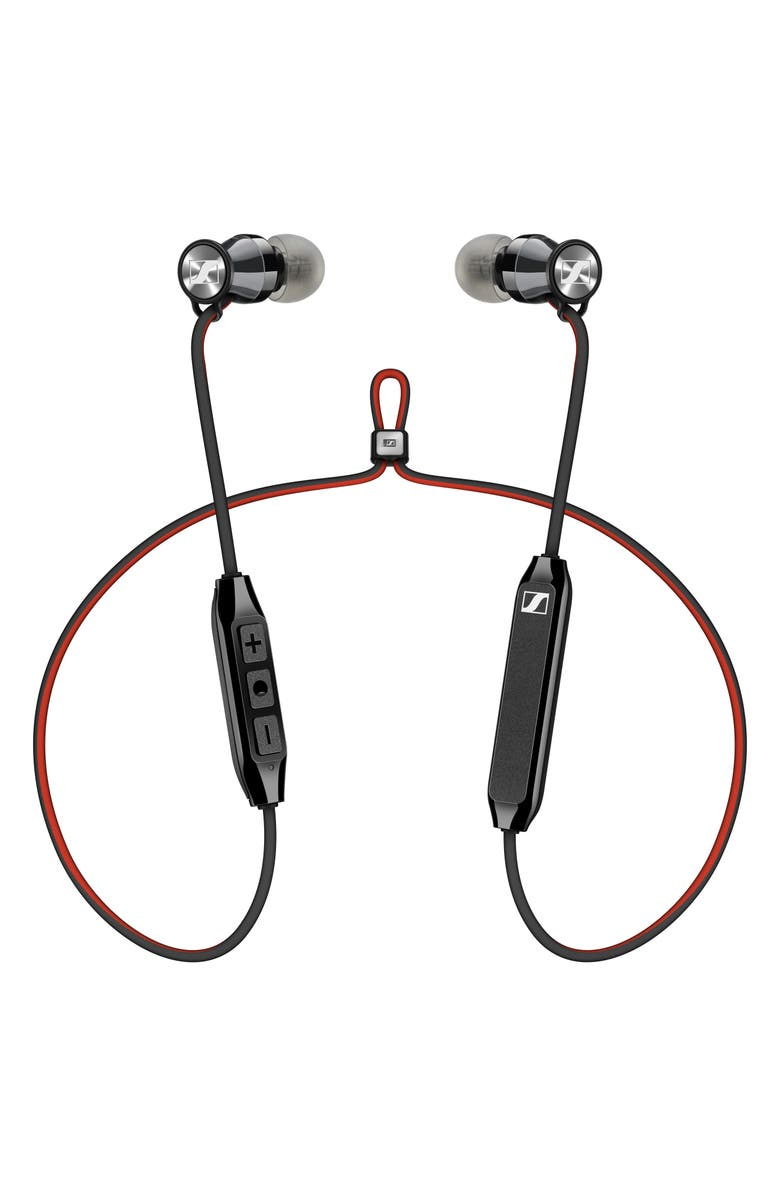 SENNHEISER Momentum Free Bluetooth<sup>®</sup> Earbuds, Main, color, BLACK/ RED