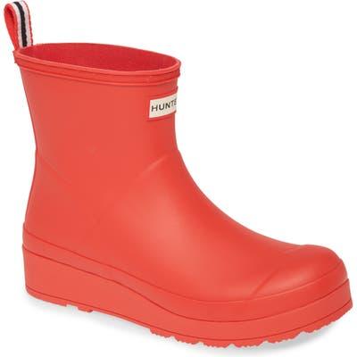 Hunter Original Play Waterproof Rain Bootie, Red