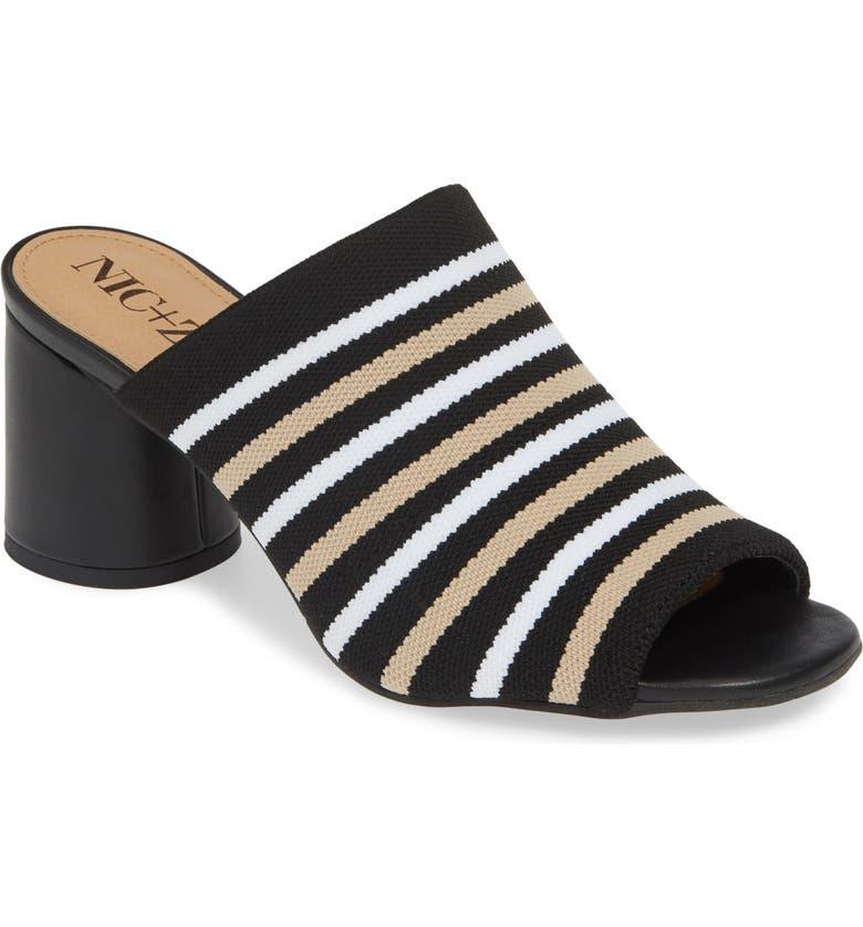 NIC ZOE Padma Stripe Knit Mule Sandal Women