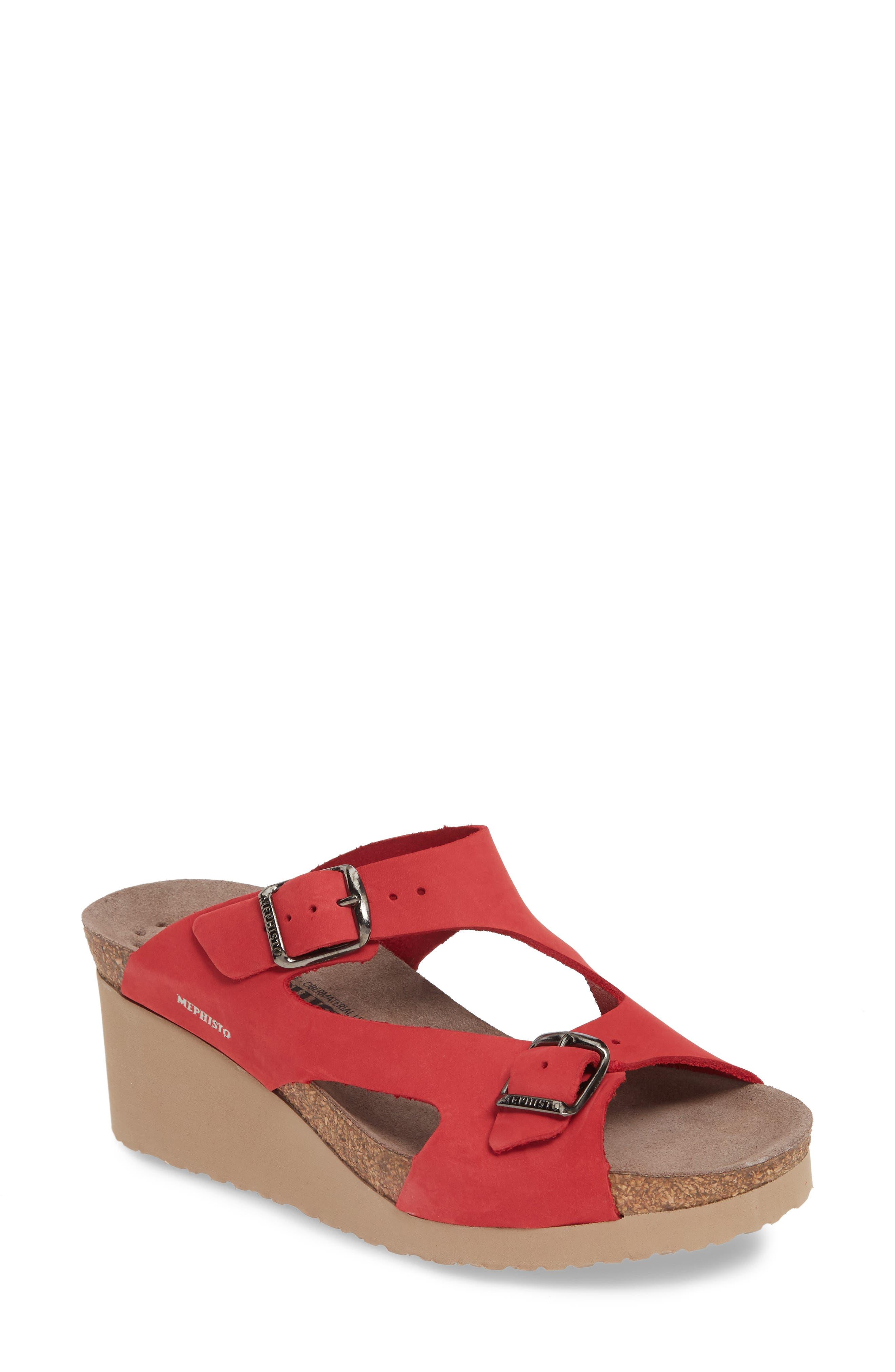 Mephisto Terie Slide Sandal, Red