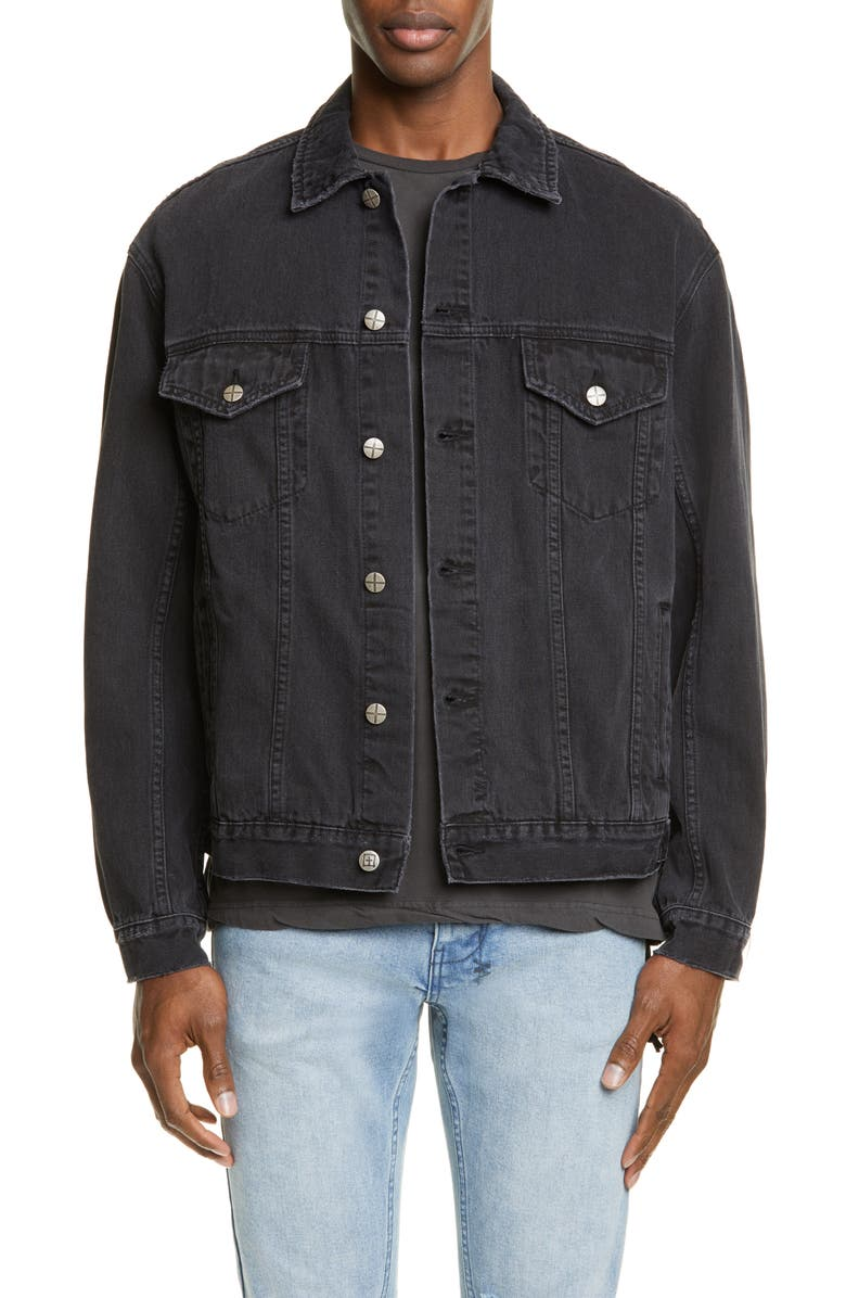 KSUBI Denim Jacket, Main, color, BLACK