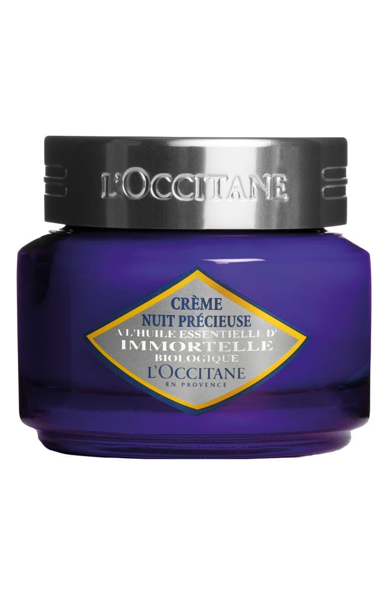 L'OCCITANE Immortelle Precious Night Cream, Main, color, NO COLOR
