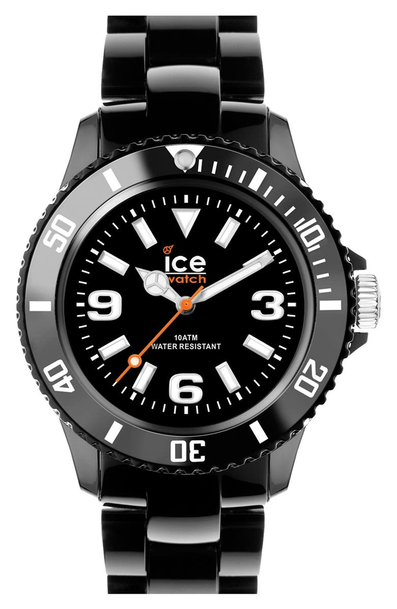 ICE WATCH Silicone Bracelet Watch, 43mm, Main, color, 001