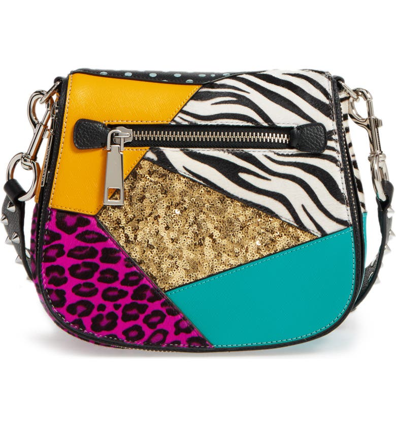 MARC JACOBS Punk Patchwork Small Nomad Leather Crossbody Bag, Main, color, 002