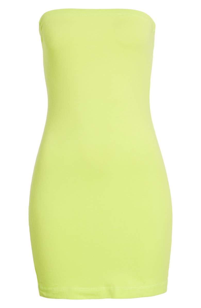BP. Be Proud by BP. Gender Inclusive Strapless Body-Con Minidress, Main, color, GREEN PUNCH