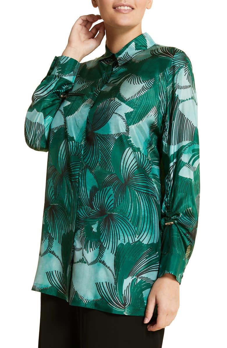 Marina Rinaldi Fiorenza Silk Shirt Plus Size