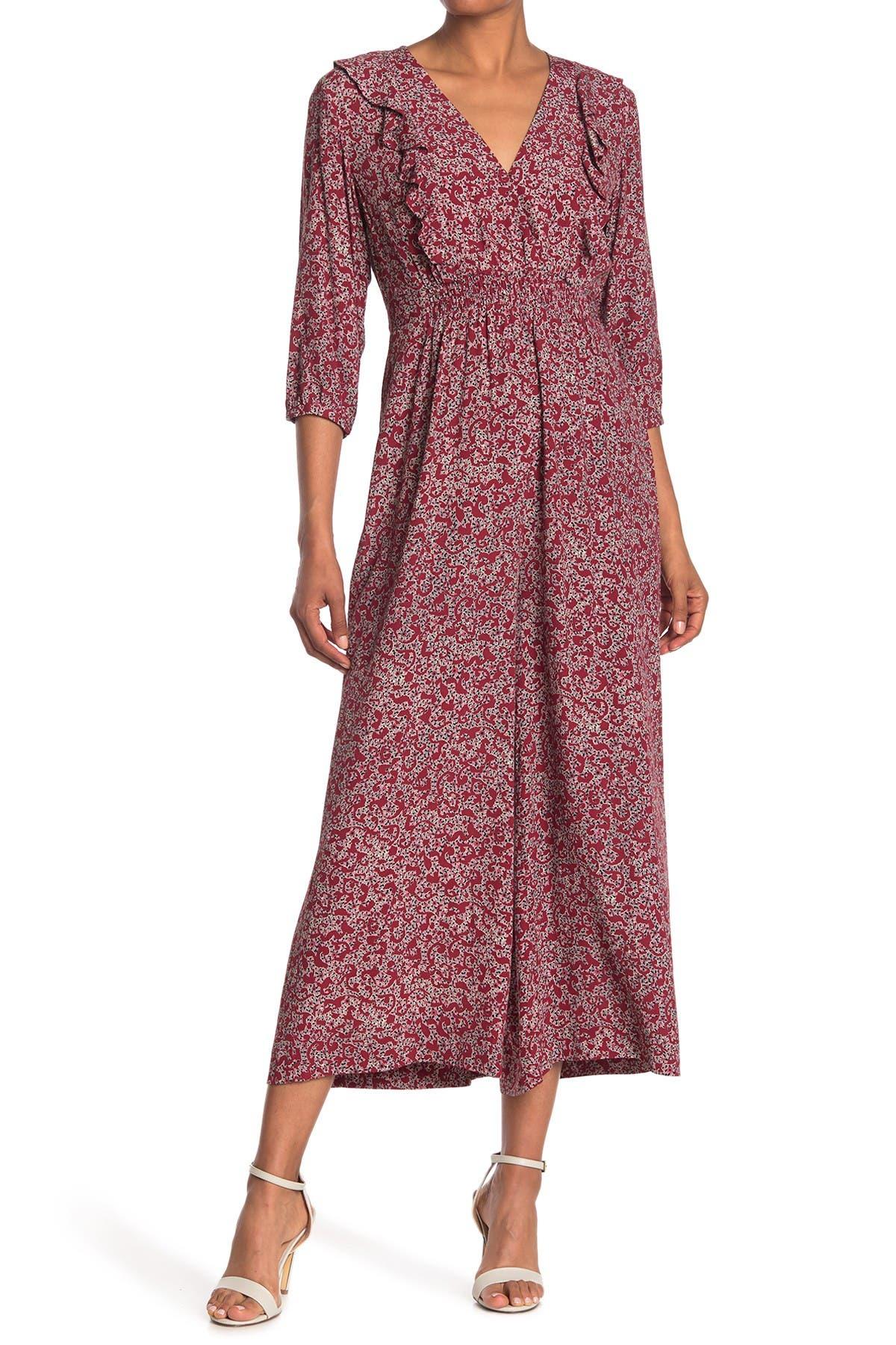 Image of ba&sh Cloy Floral Wide Leg Jumpsuit