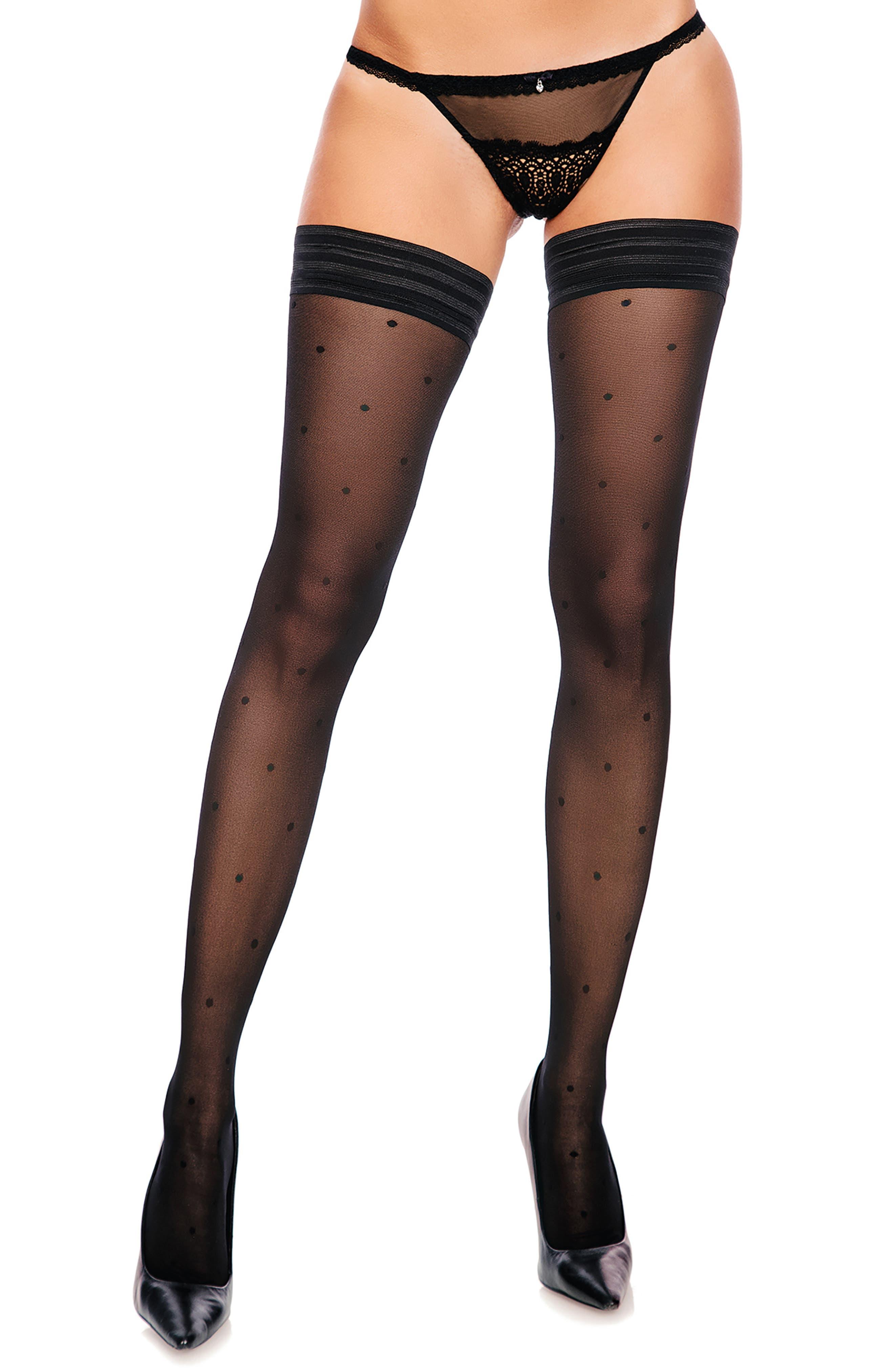 Dotty Stay-Put Stockings