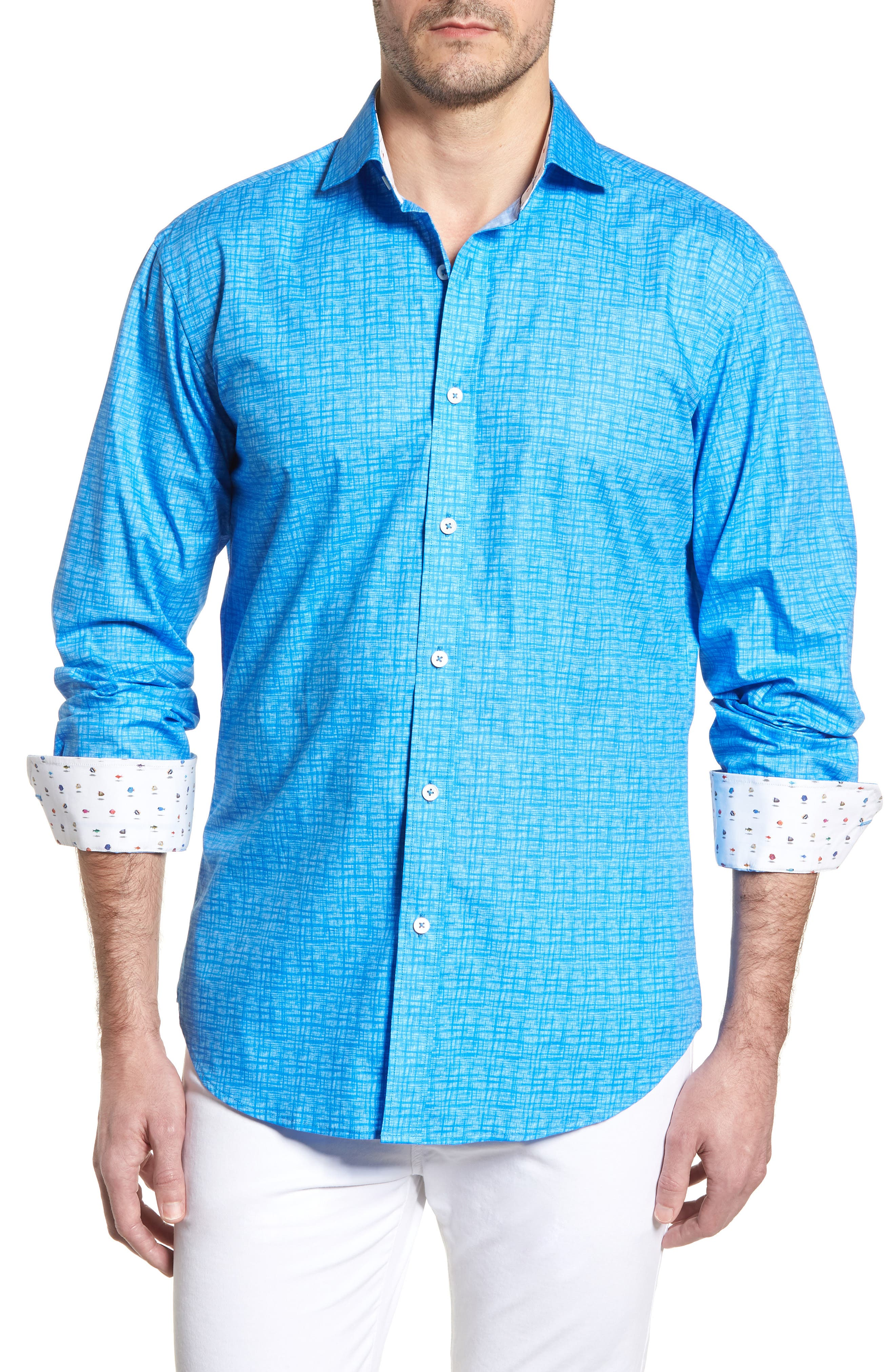 ,                             Shaped Fit Freehand Sport Shirt,                             Main thumbnail 31, color,                             422