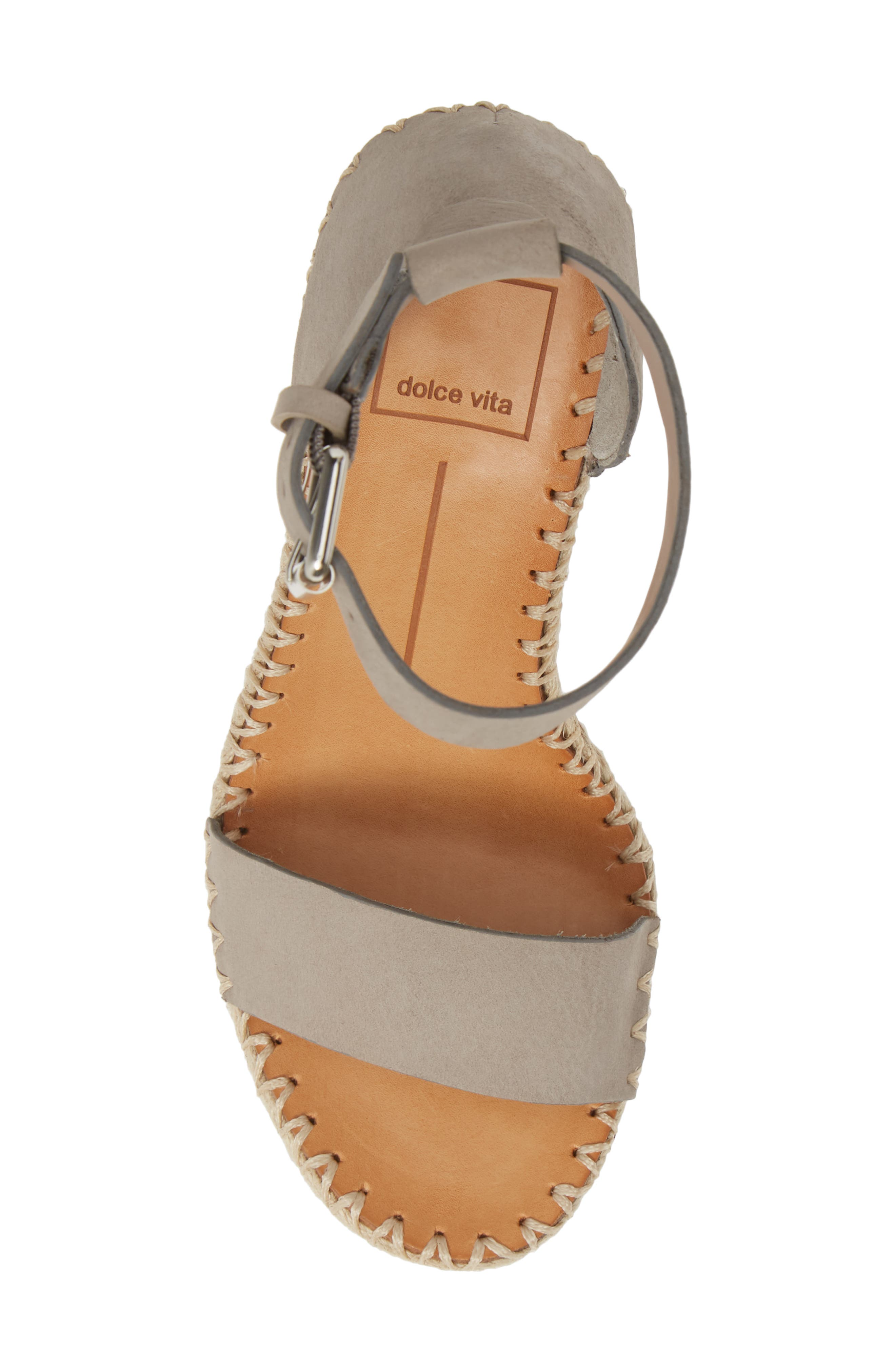 ,                             Noor Espadrille Wedge Sandal,                             Alternate thumbnail 5, color,                             020