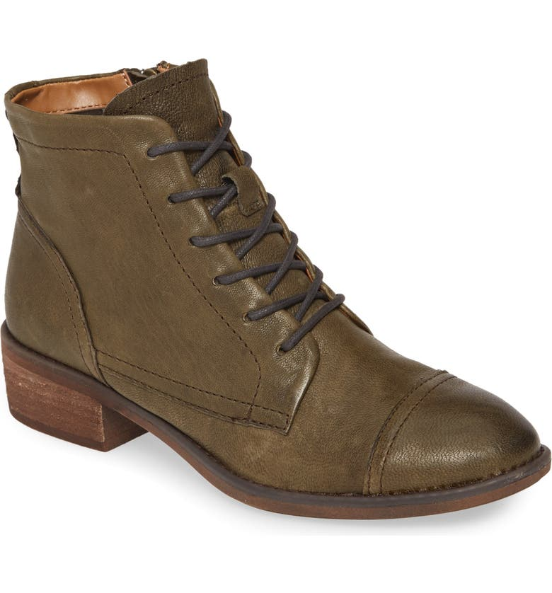 COMFORTIVA Cordia Bootie, Main, color, ARMY GREEN LEATHER