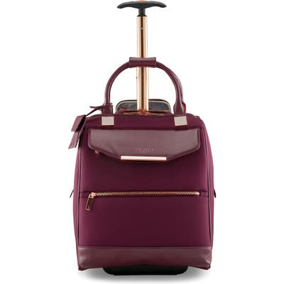 Ted Baker London Business 16-Inch Trolley Case - Burgundy