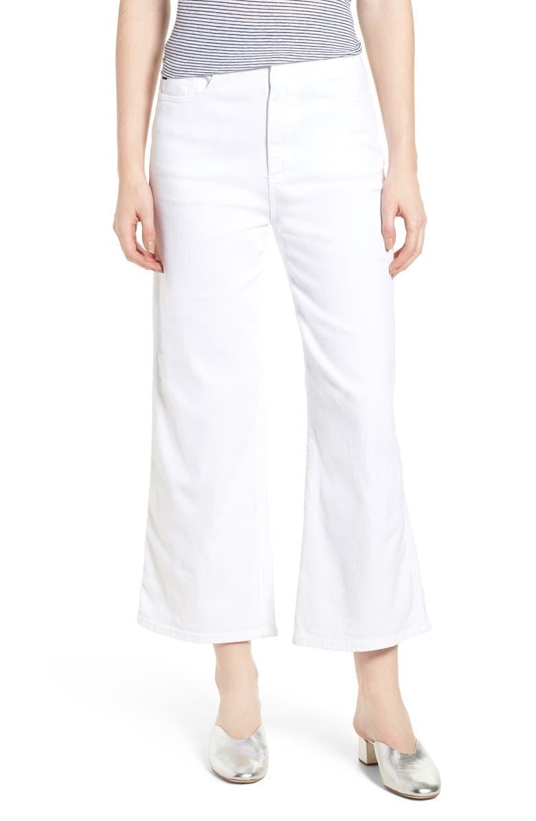 AG Etta High Waist Crop Wide Leg Jeans, Main, color, 110