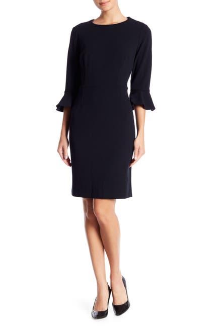 Image of Donna Morgan Ruffle Cuff Sheath Dress