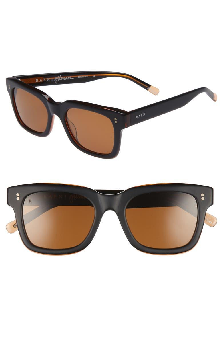 RAEN Gilman 52mm Polarized Sunglasses, Main, color, 004