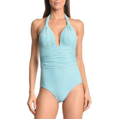 Lenny Niemeyer Adjustable Halter One-Piece Swimsuit