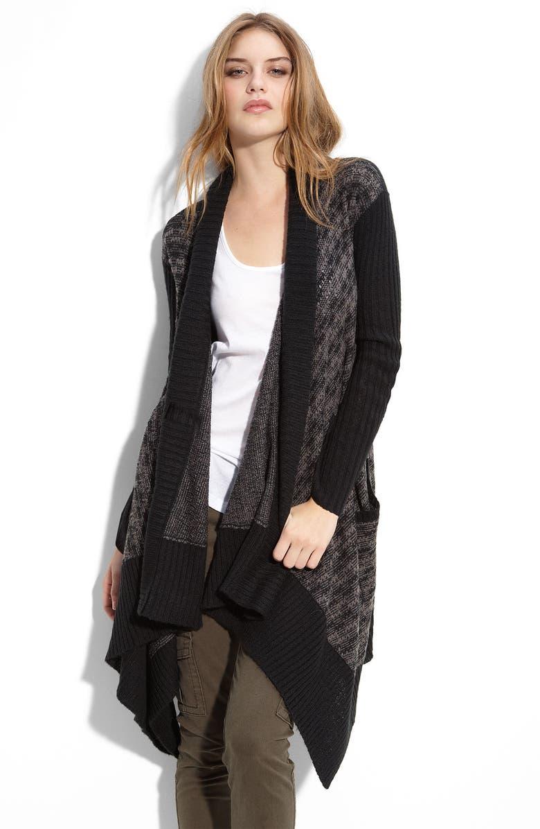 HINGE <sup>®</sup> Jacquard Blanket Cardigan, Main, color, 001