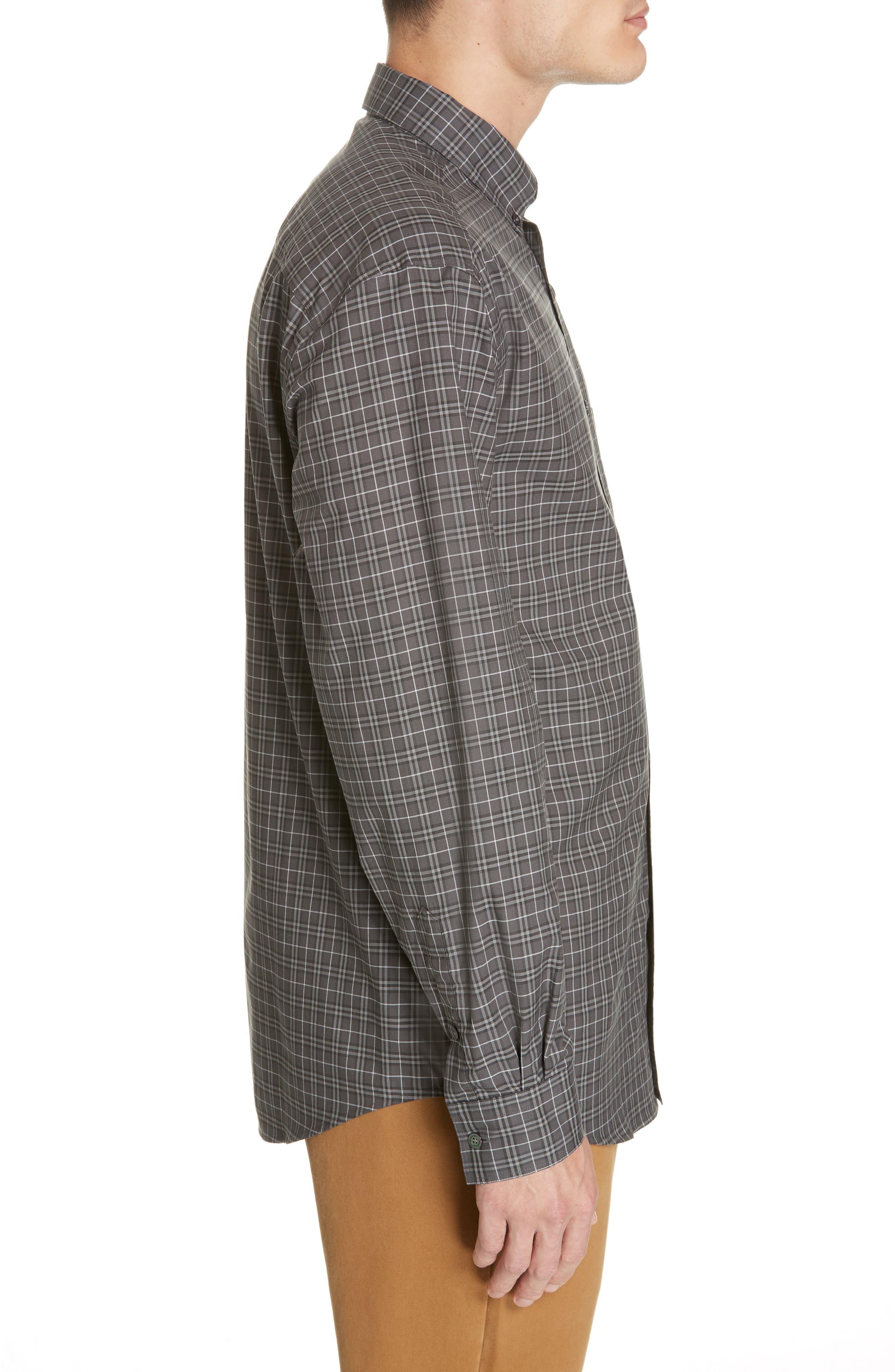 ,                             Jameson Slim Fit Check Sport Shirt,                             Alternate thumbnail 4, color,                             DARK GREY IP CHECK