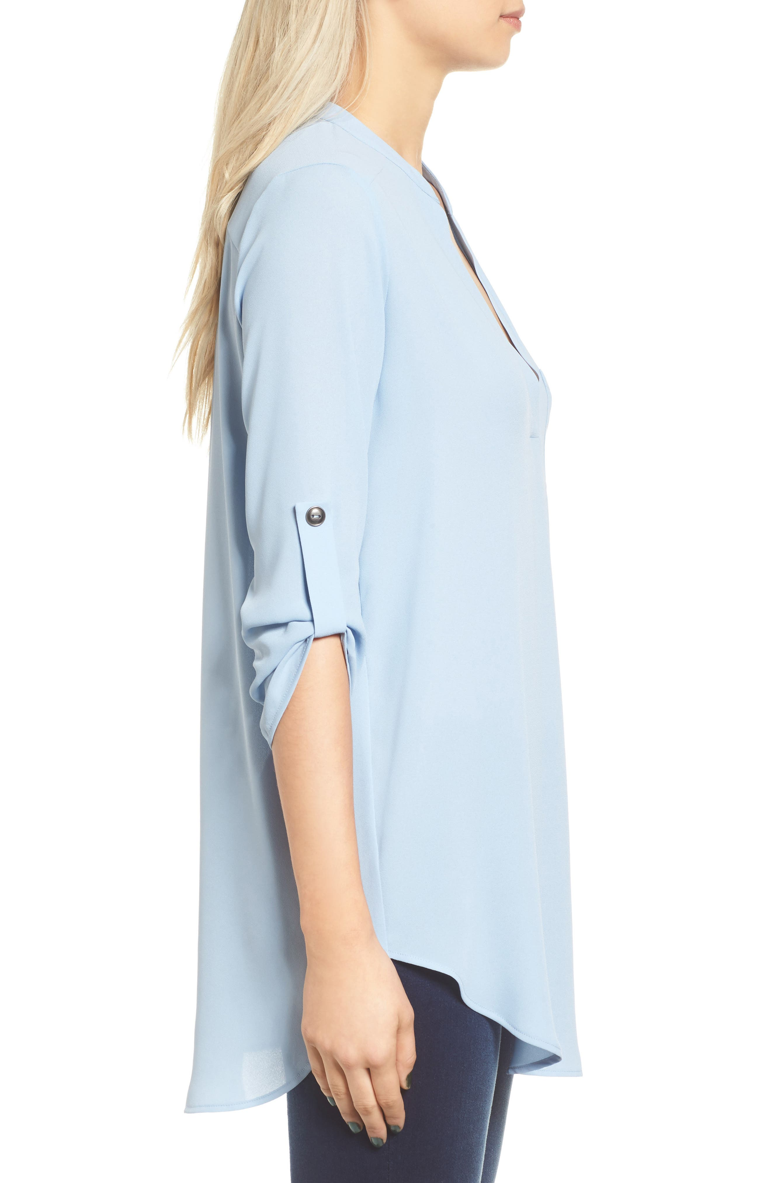 ,                             Perfect Roll Tab Sleeve Tunic,                             Alternate thumbnail 260, color,                             401
