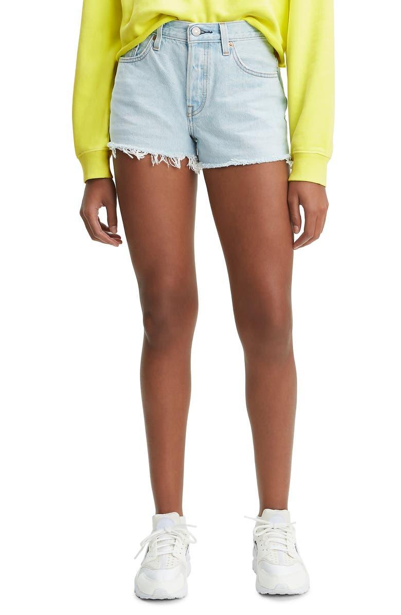 LEVI'S<SUP>®</SUP> 501<sup>®</sup> Cutoff Denim Shorts, Main, color, VINTAGE AUTHENTIC