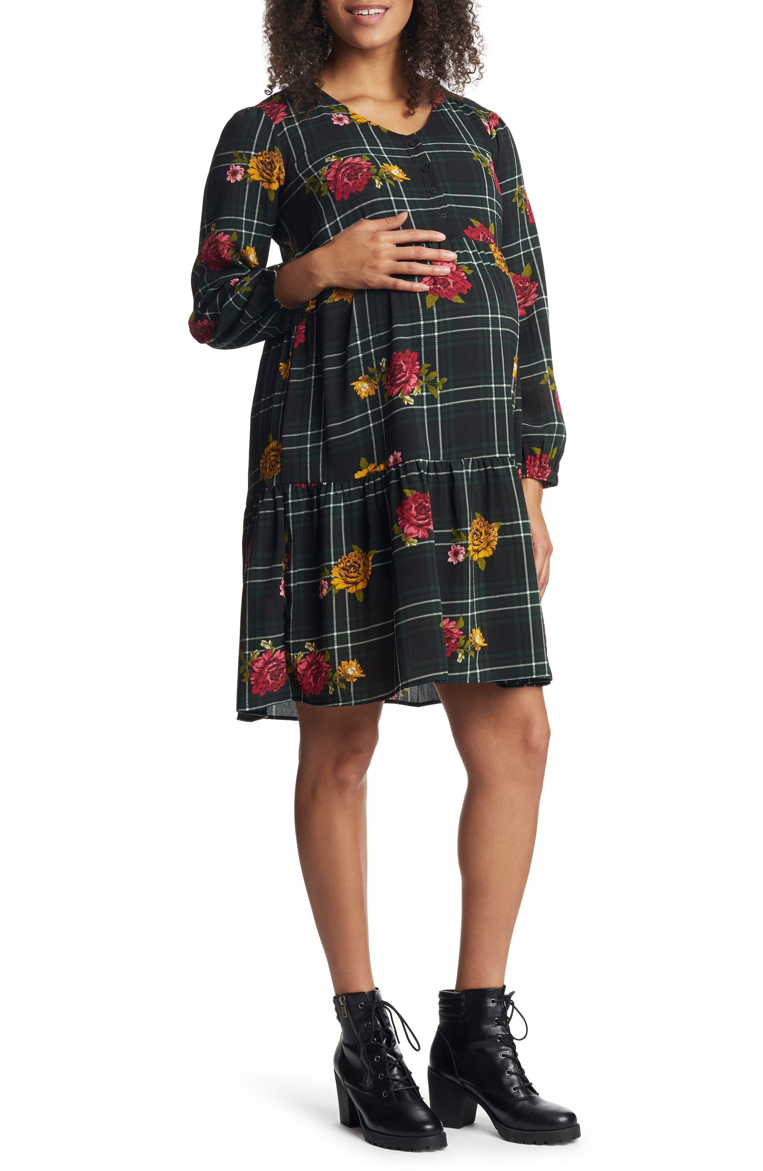 Tara Long Sleeve Maternity/nursing Dress