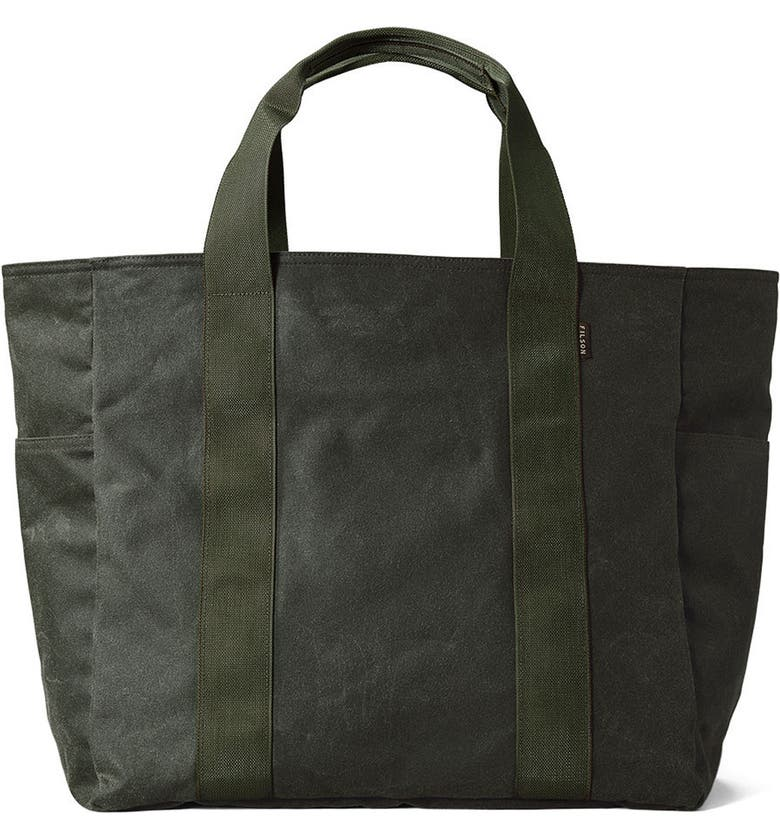 FILSON Large Grab 'n' Go Tote Bag, Main, color, SPRUCE