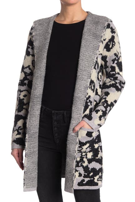 Image of Cyrus Camo Hooded Knit Cardigan
