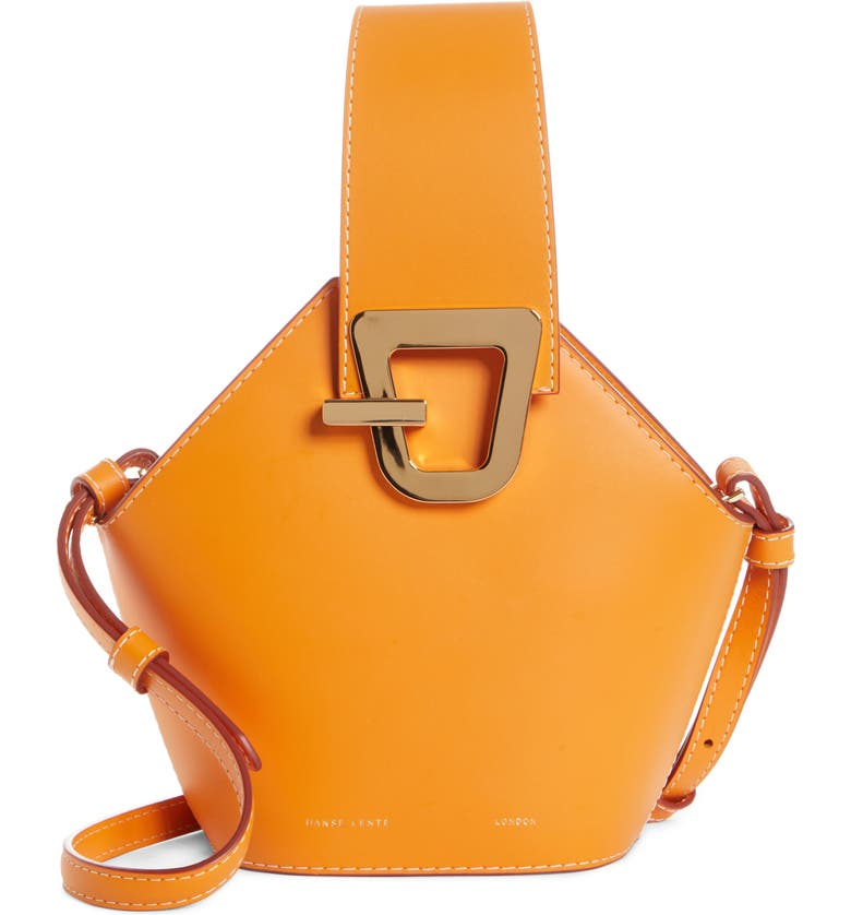 DANSE LENTE Mini Johnny Leather Bucket Bag, Main, color, APRICOT
