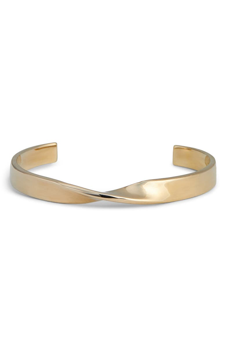 ST. JOHN COLLECTION Twist Metal Cuff, Main, color, LIGHT GOLD