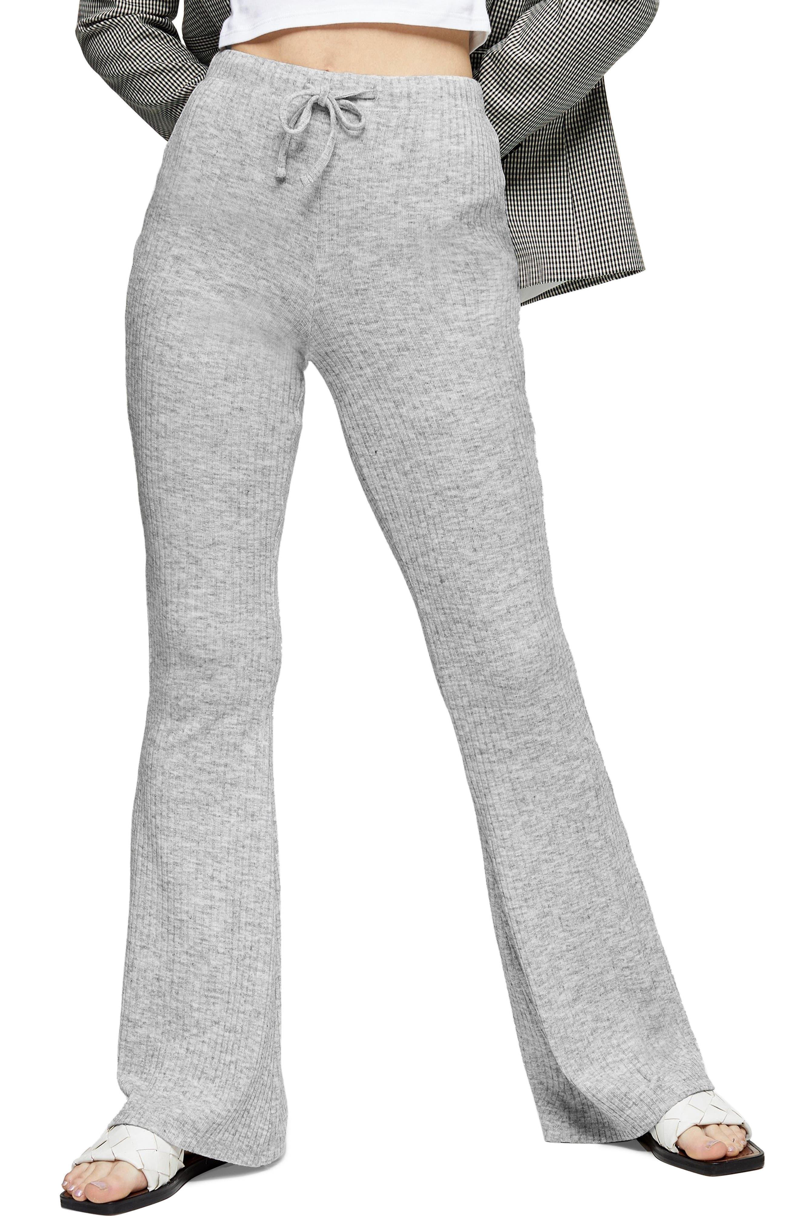 Women's Topshop Rib Flare Sweatpants