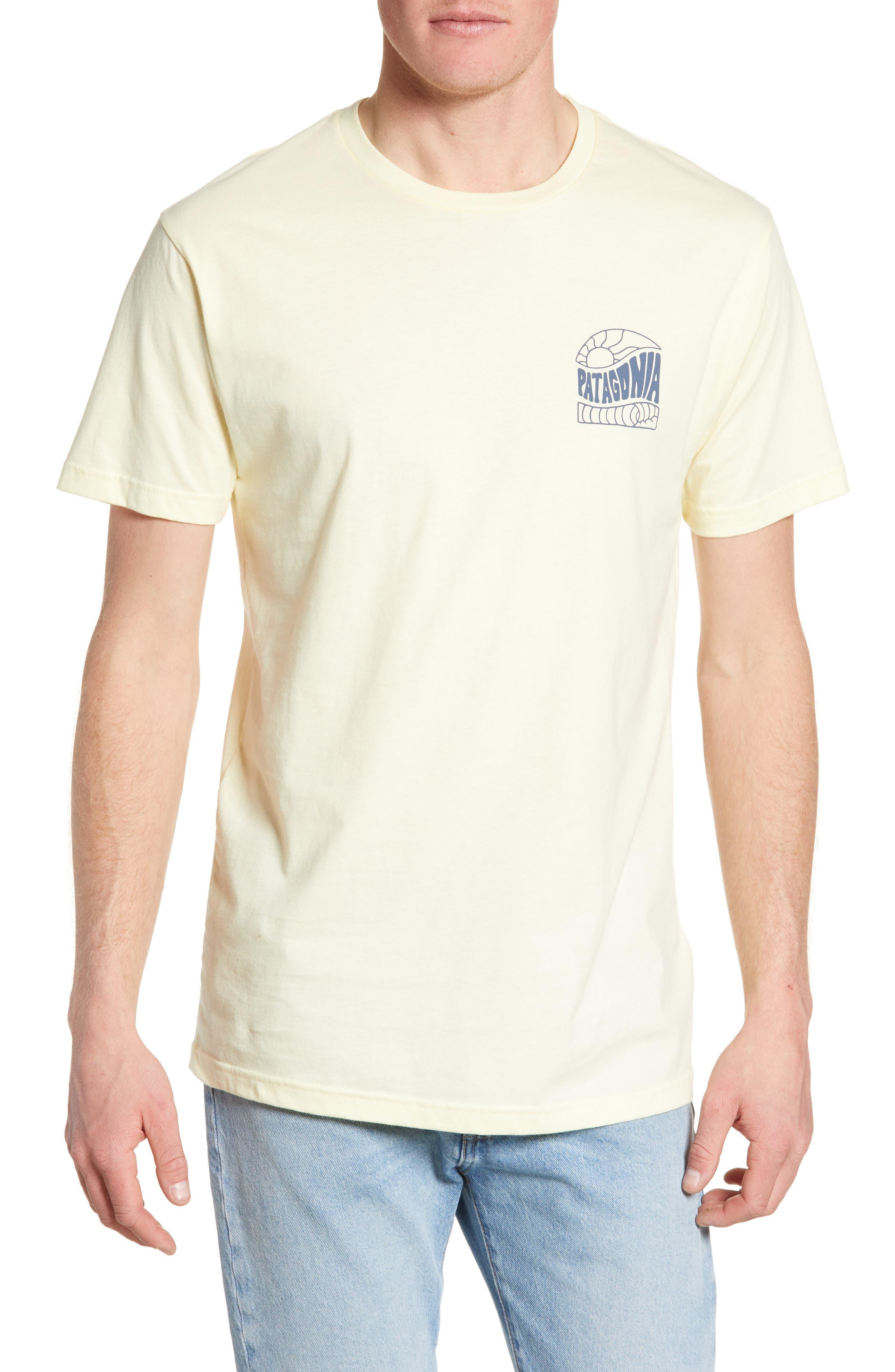 Patagonia Cosmic Peaks Graphic Organic Cotton T-Shirt, Yellow