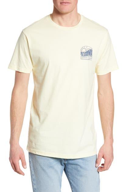 Patagonia Cosmic Peaks Graphic Organic Cotton T-Shirt In Resin Yellow