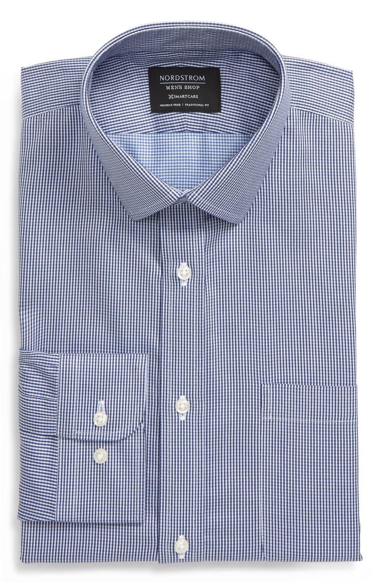 NORDSTROM MEN'S SHOP Smartcare<sup>™</sup> Traditional Fit Check Dress Shirt, Main, color, 401