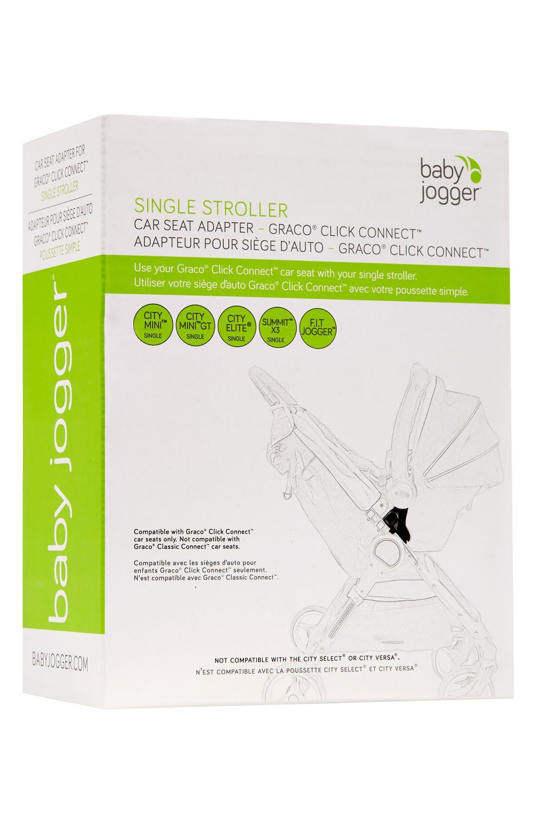Single Stroller Car Seat Adapter, Main, color, 001