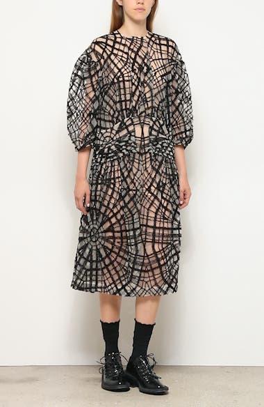 Pintuck Web Tulle Midi Dress, video thumbnail